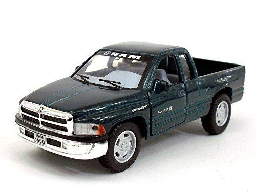 Diecast Dodge Ram (Dodge Ram 1500 1/44 Scale Diecast Metal Model - GREEN)