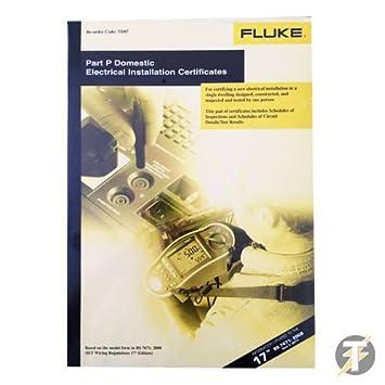 Part P Certificate >> Fluke Td07 Part P Domestic Electrical Installation Amazon