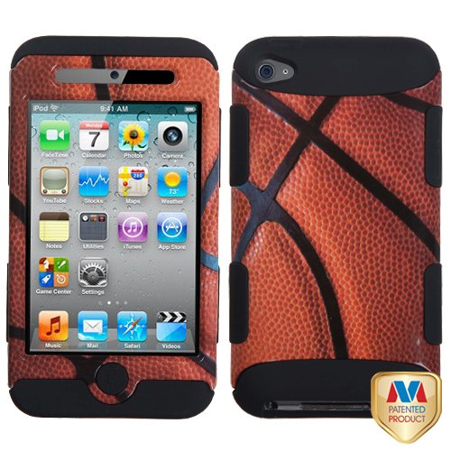 Y-tech@ Tuff Sports Collection Hybrid Protector Cover for Ipod Touch Generation 4 Basketball/black