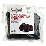Sunfood Olives, Black Botija, Herbed, Pitted, 8 Ounces, Organic, Raw
