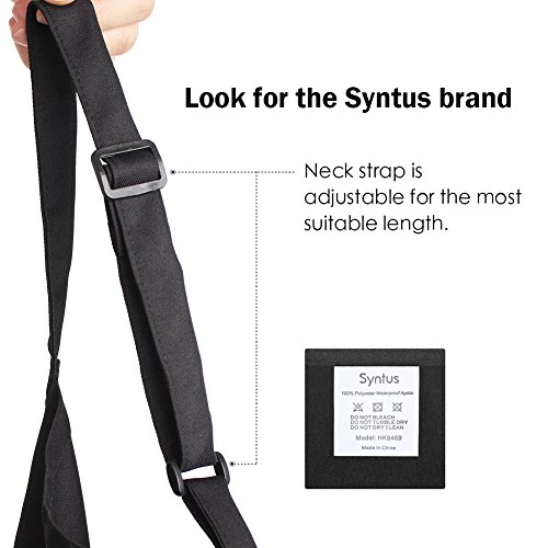 Syntus 2 Pack Adjustable Bib Apron Waterdrop Resistant with 2 Pockets Cooking Kitchen Aprons for Women Men Chef, Black
