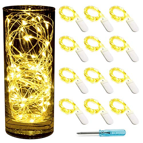 Dinner Table Centerpieces - LED Starry String Lights,Pack of 12