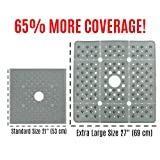 """Extra Large Square Shower Mat - Gray (65% Larger, 27"""" x 27"""")"""