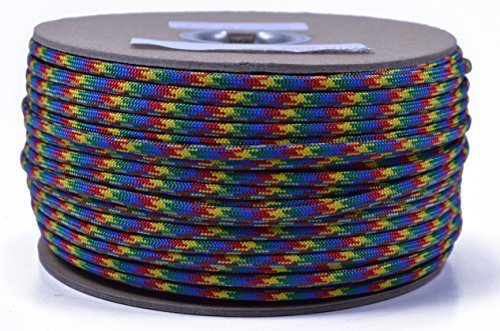 BoredParacord - 1', 10', 25', 50', 100' Hanks & 250', 1000' Spools of Parachute 550 Cord Type III 7 Strand Paracord Well Over 300 Colors - Autism Awareness - 250 Foot Spool for $<!--$22.95-->