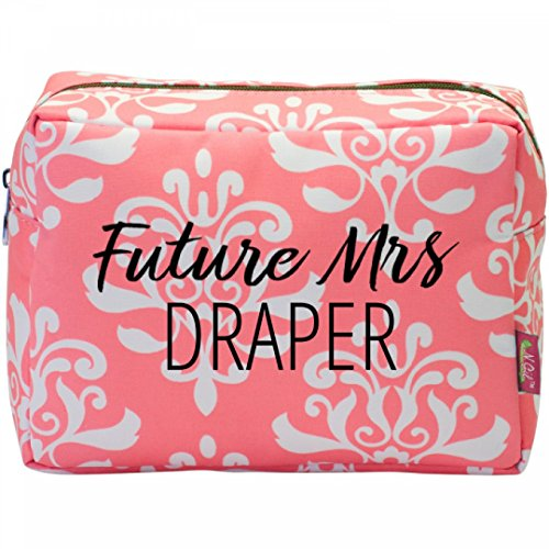 Price comparison product image Future Mrs. Draper Engagement Gift:Patterned Cosmetic Makeup Bag