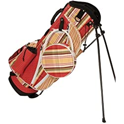 Sassy Caddy Women's Zesty Golf Stand Bag, Tomato Red/Apple Green/Golden Yellow/White