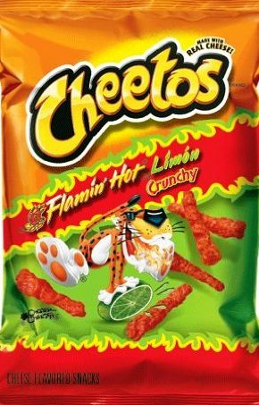 Cheetos Flamin' Hot Crunchy Limon 2.0 oz (Pack of 5)