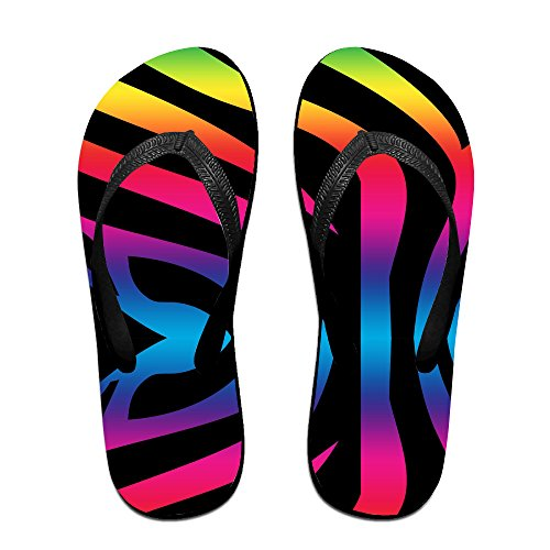 Colorful Tiger Print Unisex Fashion Beach Slipper Indoor And Outdoor Classical Flip Flop Thong Sandals L (Tiger Flip Sandals)