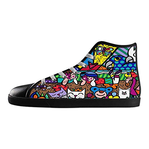 Dalliy Romero Britto Mens Canvas shoes Schuhe Lace-up High-top Sneakers Segeltuchschuhe Leinwand-Schuh-Turnschuhe D