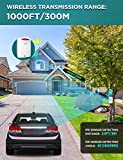 Driveway Alarm Wireless Outside, 1byone Motion