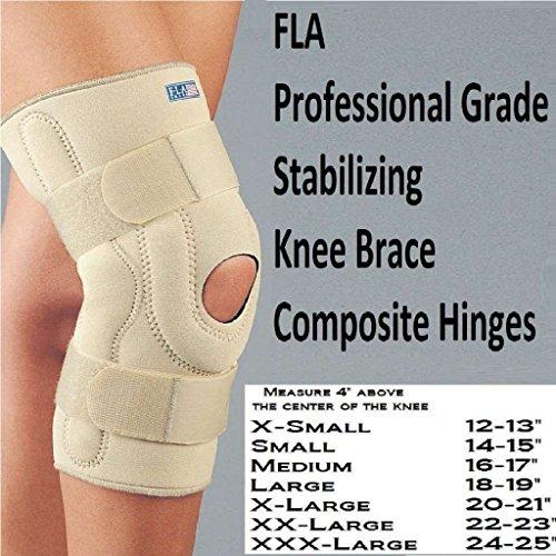SAFE-T-SPORT Neoprene Stabilizing Knee Brace w/ Composite Hinges Size: Large
