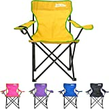just be. Folding Camping Chair - Yellow with...