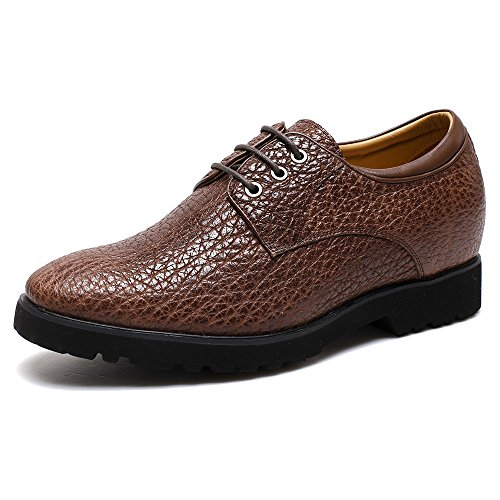 "CHAMARIPA Height Increasing Elevator Shoes 2.76"" Taller Men Brogues Dress Oxford Shoes 225A01-1 US 9"