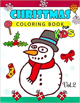amazoncom christmas coloring books for kids vol2 jumbo coloring book christmas coloring book for kids volume 2 9781539943808 red hat art
