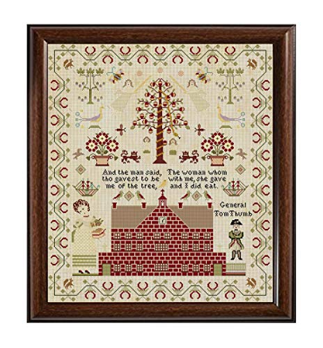 Rare Antique English 1845 Sampler Reproduction Cross Stitch Counted Chart PDF on CD Unique Easy to Make Vintage England ()