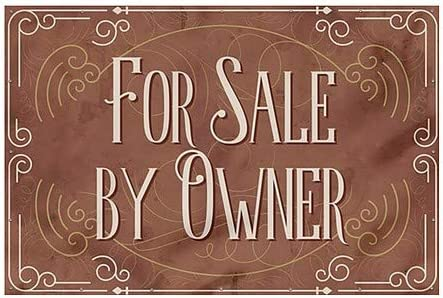 for Sale by Owner 9x6 Victorian Card Wind-Resistant Outdoor Mesh Vinyl Banner CGSignLab