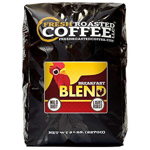 Breakfast Blend Coffee, Artisan Blend, Whole Bean, Fresh Roasted Coffee LLC. (5 -