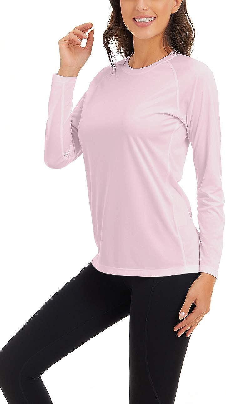 SMENG Camiseta de manga larga para mujer UPF 50+