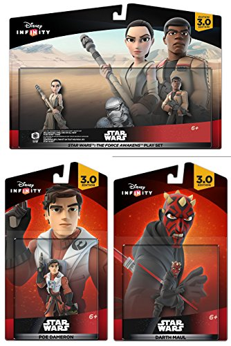 Star Wars: The Force Awakens Play Set: Finn, Rey, Darth Maul, Poe, and All NEW STAR WARS Game
