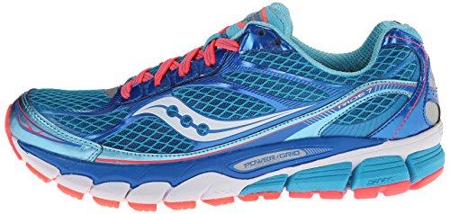 Saucony | RIDE 7 Laufschuhe Damen | blau-rot, Blau, 6