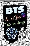 "BTS Livre à Colorier Pour les Armys: Pour soulager le stress, Jungkook, Jimin, V ""Taehyung"", Suga, Jin, RM, J-Hope, Happiness, Love yourself, Kpop ... it right, Pages : 87 Taille : 6 x 9 pouces"