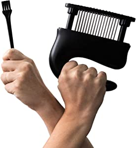 Meat tenderizer tool   48 stainless steel blades   Suitable for BBQ, steak, chicken, pork chop and more   kitchen hammer and mallet not needed   Durable and Easy to use   Tough to Tender