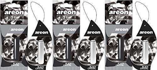 Areon Liquid Auto Parfüm Schwarz Kristall Autoduft Hängend Duftflakon Parfüm Flakon Lufterfrischer Aufhängen Anhänger Spiegel 5ml 3d Black Crystal Pack X 3 Auto