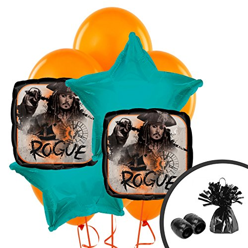 BirthdayExpress Pirates of The Caribbean Party Supplies Balloon Bouquet