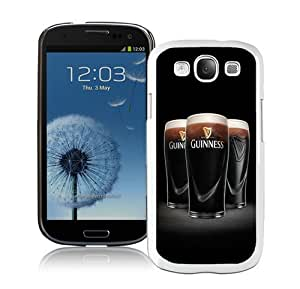 Samsung Galaxy S3 Cover Case,Guinness 6 White Cool Customized Samsung Galaxy S3 I9300 Case