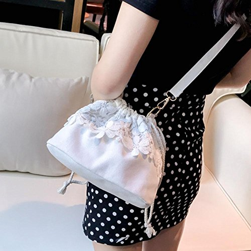 For Shoulder Powlance White Women Bag RwxUE8
