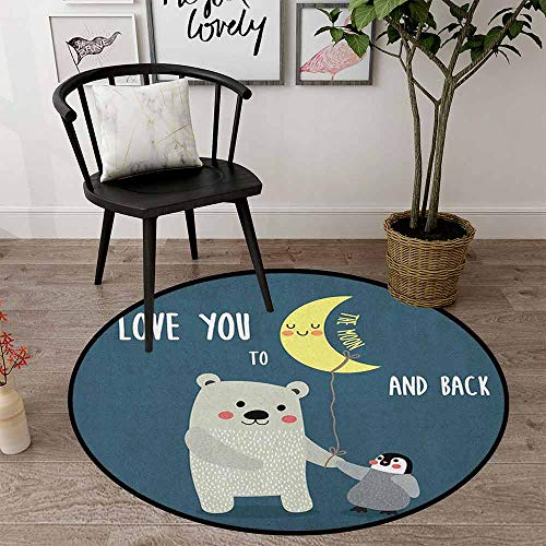 I Love You Indoor Modern Area Round Rugs 27