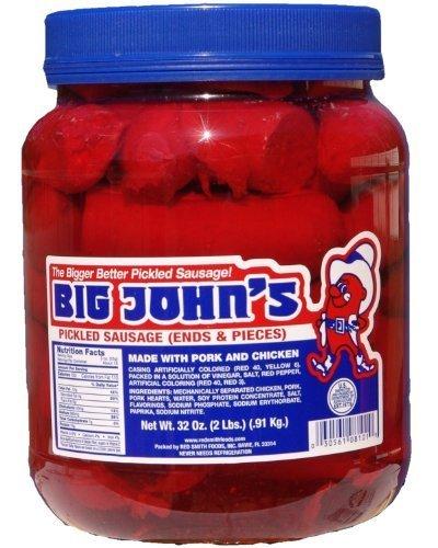 - Big John's Pickled Sausage - 1/2 Gallon (32oz)
