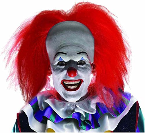 Pennywise Wig It Movie Scary Clown Halloween Adult Costume Accessory +eBook