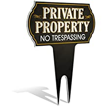 """Metal Yard Sign Private Property No Trespassing Sign 