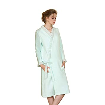 Mcys Y76ygbf Robe De Épaisse Longue Femme Peignoir Coton Robes Chambre tCshQrd
