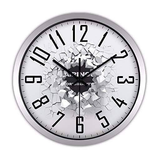 Gxinyanlong Mute Clock Clock, Living Room, Creative Quartz Clock Pendant Bedroom Simple Clock,14 inches,Silver (Pendant Quartz Clock)