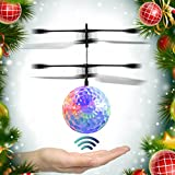 RC Toy – EpochAir RC Flying Ball, RC Drone Helicopter Ball Built-in Shinning LED Lighting for Kids, Teenagers Colorful Flyings for Kid's Toy