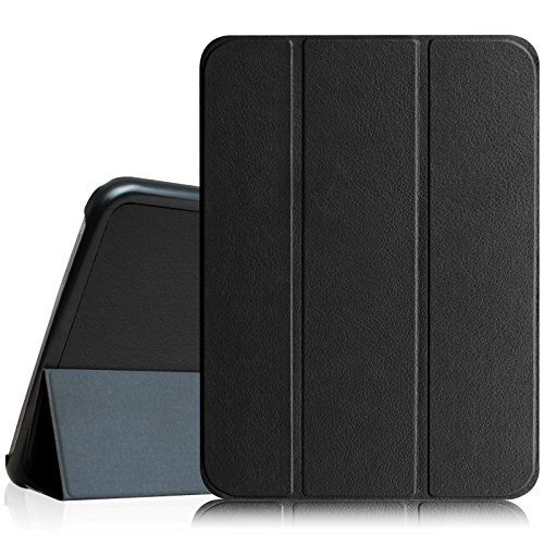 Fintie Slim Shell Case Compatible with Samsung Galaxy Tab 4 10.1 (10-Inch) / Tab 4 Nook 10.1- Ultra Lightweight Protective Stand Cover with Auto Sleep/Wake Feature, Black (10 Tablet Samsung Inch Case 3)