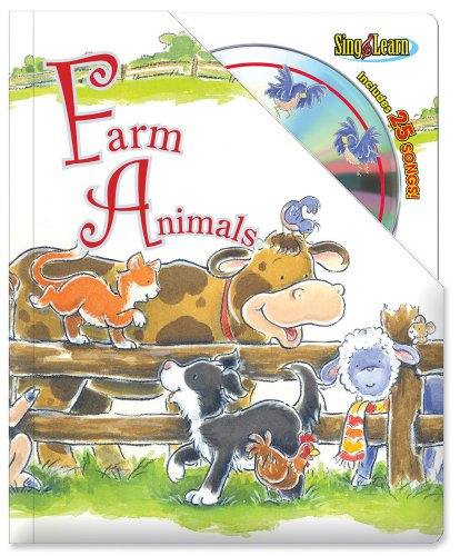Farm Animals Sing & Learn Padded Board Book With CD (Thompson Mp3 Player)