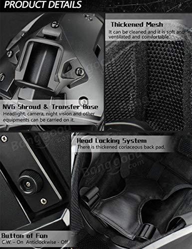 QZY Casque De Protection Modulaire pour Moto pour Entraînement Militaire Airsoft-Silver 2