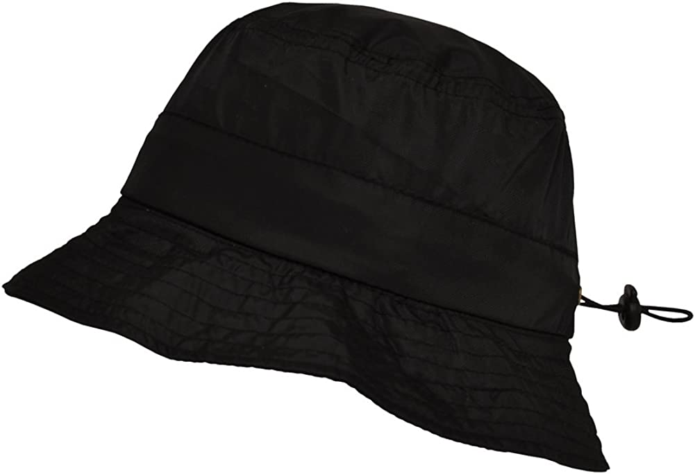TOUTACOO, Bucket Rain Hat, Easy to Fold in its Integrated Pocket. Nylon Look
