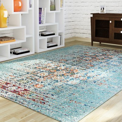 Mercury Row Monaco Blue Rug (4' x 5'7