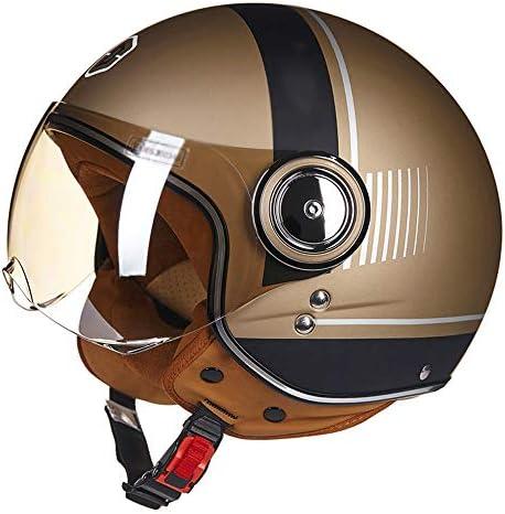 RMXMY 方法軽量のバイクのヘルメット、大人のために調節可能な周期のヘルメット男性および女性の四季の普遍的な半分覆われた半分のヘルメット (Color : C, Size : M)