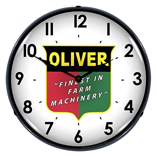 Oliver Finest in Farm Machinery LED Wall Clock, Retro/Vintage, Lighted, 14 inch