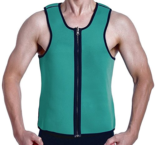 Roseate Hot Thermo Sweat Body Shaper Mens Shapewear Weight Loss Tank Top Neoprene Sauna Waist Cincher M