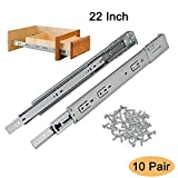 22 inch drawer slides soft close - Gobrico 22-Inch Under/Side Mount Soft Close Ball Bearing Drawer Slides Glides with Brackets Full Extension, 10Pairs