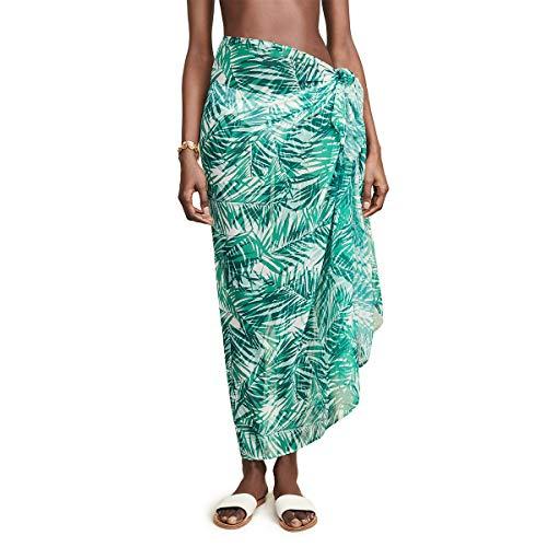 Sarong Women's Swimsuit Summer Beach Wrap Skirt Swimwear Bikini Cover Up (One Size, 863Green)