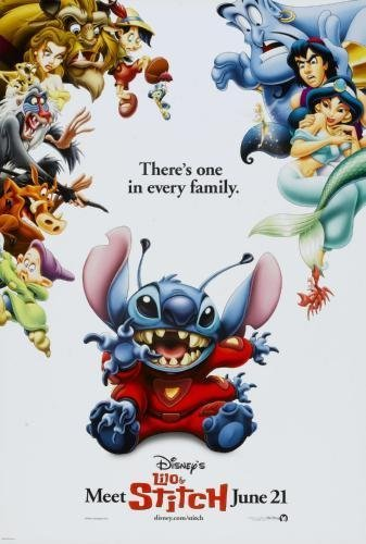 Stitch Movie Poster Master Print