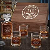 Scales of Justice Custom Decanter Box Set (Customizable Product)