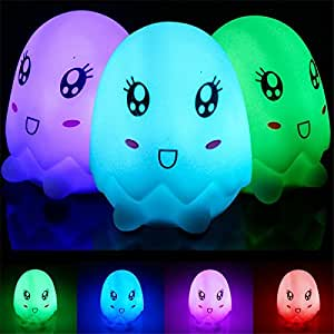 pinnacleT1 LED Night Light for Kids Soft Silicone Colorful Night Lamp for Kids Toys Birthday Gifts Karaoke Club Bar Wedding Holiday Dance Night House Lamps